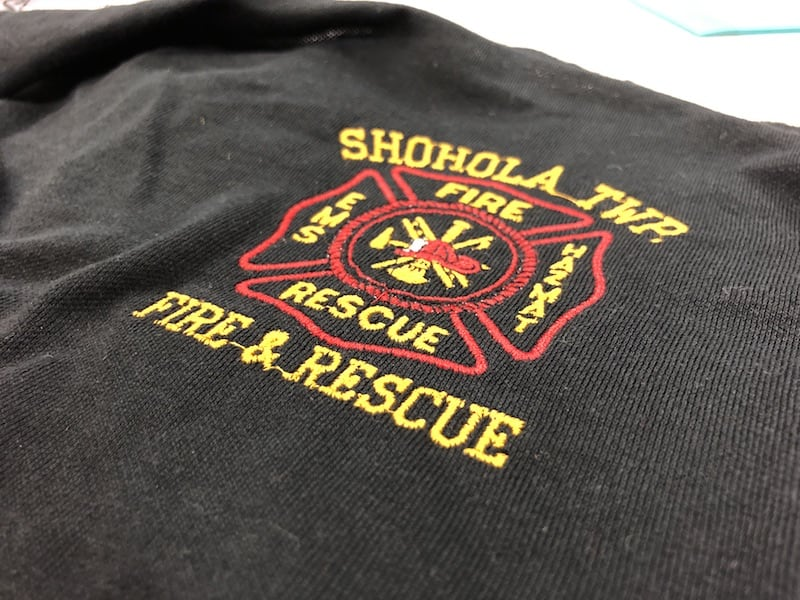 Fire Dept Sweatshirt Embroidery